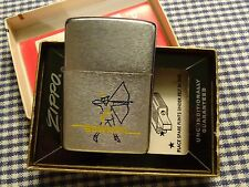 VINTAGE ZIPPO BRUSHED CHROME BOWMAN LIGHTER 1963