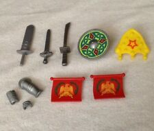 REPLACEMENT Playmobil Roman Warrior  WEAPON LOT sword Flag  Shield Armor (10) PC