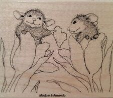 "NEW! HOUSE MOUSE by STAMPENDOUS ""Be Mine"" Wood Mounted Rubber Stamp"