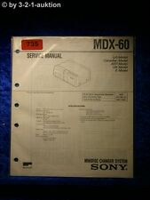 Sony Service Manual MDX 60 Mini Disc Charger System (#0735)