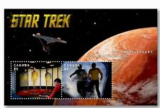 2016 Canada Post STAR TREK HIGH VALUE 2 STAMPS 50th Lenticular Souvenir sheet