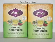 YOGI GREEN TEA KOMBUCHA  {TWO BOXES!}  32 BAGS