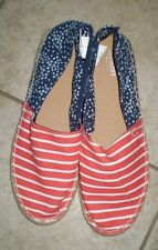 NWOT Ladies Old Navy Americana Stars Stripes Flat Casual July 4 Shoes Size 10