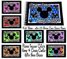 Personalized Disney MICKEY MOUSE Minnie Mouse Autograph Book   YOUR CHOICE NEW