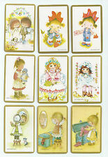 #600.019 Blank Back Swap Cards -MINT- Lot of 9 - Children with gold borders