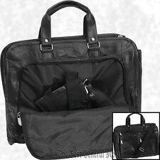 "16"" Leather Concealed Carry Briefcase Bag Weapon Case Hidden Handgun Holster"