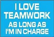 I Love Teamwork As Long... funny fridge magnet (ep)