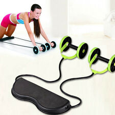 Home Pull Rope Exercise Equipment, Gym Fitness Core Double Wheels Ab Roller Tool