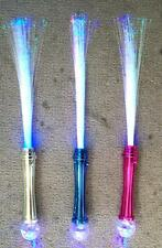 METALLIC LIGHT UP FLASHING FIBER OPTIC WAND W BALL new novelty toy blinking NEW