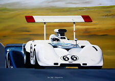 "Jim Hall  Chaparral 2G      A3    12""x17""   Poster"