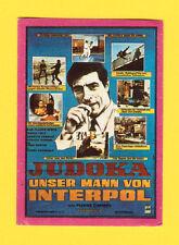 JUDOKA - UNSER MANN VON INTERPOL Scarce German Film Movie Sticker