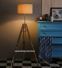 Nautical Teak wood Tripod Home Decorative Floor shade lamp stand decor lamp