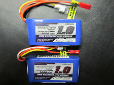 2 TURNIGY 1000mAh 3S 11.1V 20-30C LIPO BATTERY JST FPV GROUND STATION BLADE QUAD