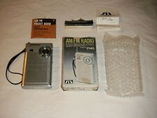 SOUNDESIGN AM/FM RADIO MODEL 2145 VINTAGE JUNE 1980 NIB 9 VOLT TELESCOP ANTENNA