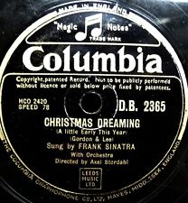 X034/FRANK SINATRA-Christmas dreaming-I´ll make up f. Weihnachten-Xmas-Schellack