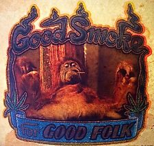 Vintage 70s Good Smoke For Good Folk Iron-On Transfer Marijuana Funny RARE!