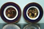 2 x Weatherby Royal Falcon Gift Ware Vintage Miniature Collectors Plates 3.1/2""