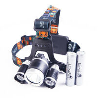 6000Lm XM-L T6+2R5 LED Headlamp Scheinwerfer Torch Taschenlampe 2 18650 Batterie