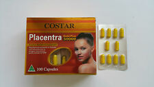 2 Boxes Costar Sheep Placenta 50000mg 100 Capsules Australian Made