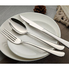 New 24 Piece Stainless Steel Flatware Set Silverware, Service 8 Place Settings
