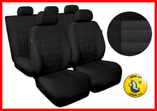 CAR SEAT COVERS full set fits Toyota Avensis Universal - black (MG1)