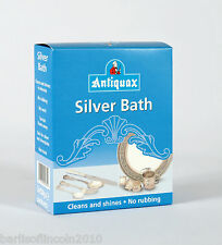 Antiquax Silver Bath/Cleaner/Solution/Dip/Add Water & Leave 5 Mins/Deep Clean