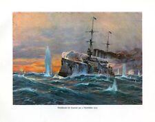 Seeschlacht bei Coronel am 1 November Marinemaler 1914 DEUTSCHE FLOTTE STÖWER 72