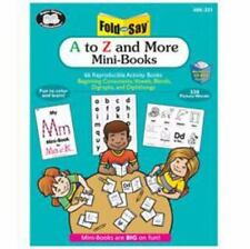Fold and Say: A to Z and More Mini-books with Workbook Cd ROM Combo