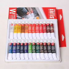 Pro 24 Pcs Colors 12ml Paint Tube Draw Painting Water Color Set