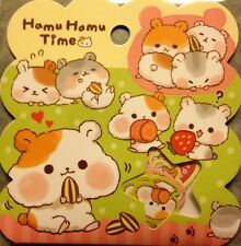 Kawaii Q-lia Hamu Hamu Time Sticker Flakes Sack 50 Stickers