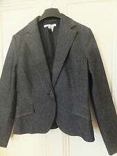 ZARA DARK DENIM JACKET BLAZER COAT SIZE L (10/12 UK ) BNWOT