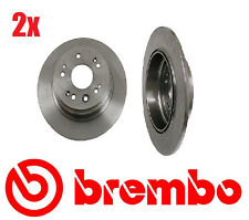 Set of 2 Brembo  Rear Disc Brake Rotors Honda CRV 02-04