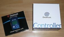 Sega Dreamcast CONTROLLER & Blue VMU Visual Memory Unit New Oryginal in Box