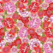 Sakura Red Floral 7155M 88 Quilt Fabric BTY Blank Quilting
