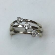 Natural DIAMOND Ladies RING solid 10k white gold BEST DEALS ON EBAY