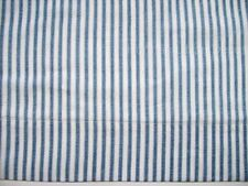 "BLUE & WHITE TICKING STRIPE Cotton Valance, Lined 16"" x 72"""