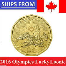** 2016 Canada Canadian $1 Rio Olympics Lucky Loonie Uncirculated MS -Presale **