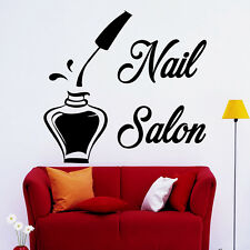Wall Decals Bottle Nail Salon Decal Beauty Studio Decor Stickers Art Design MA05