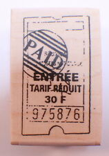 Stampington And Co Wooden Rubber Stamp Paid Ticket Entree Tarif Reduit