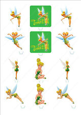 Novelty Tinkerbell Fairy Mix Edible Cake Cupcake Toppers Decorations Birthday