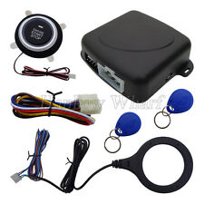 Stock In USA! RFID Car Alarm With Engine Start Stop Push Button & 2 Transponders