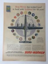 Original Life Magazine 1954 B-W Borg-Warner Lockheed for 40 Years Vintage Art