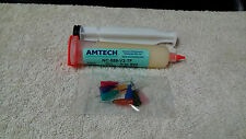 Amtech Flux NC-559-V2-TF 30cc Syringe Plunger and 9 Assorted Tips 100% Original