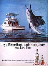 1977 'BACARDI' Rum Advert #6 - Original (Sail Fish) Print AD