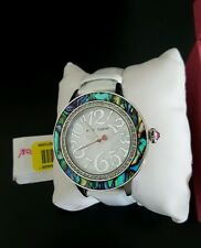Betsey Johnson watch mother of pearl and abalone New in box