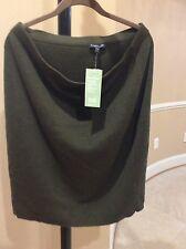 NWT EILEEN FISHER Merino Wool Short straight Skirt Sz 1X $238 Cyprus olive green
