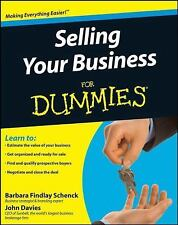 Selling Your Business For Dummies by Findlay Schenck, Barbara, Davies, John