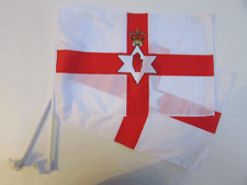NORTHERN IRELAND CAR WINDOW FLAG - 2 PACK NEW