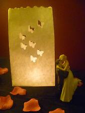 Sacs de bougie papillon Luminaire Lanterne décorations fête de mariage (50 sacs en vrac)