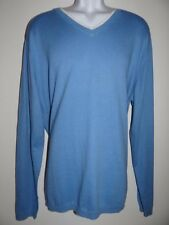 Robert Graham Men's Peppermint Blue V-Neck Long Sleeve Sweater Size XL $228